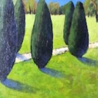 7 Maria Montner - Genom parken - Akryk på pannå