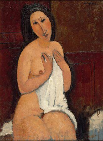 Amedeo Modigliani, Nu assis à la chemise © Philip Bernard