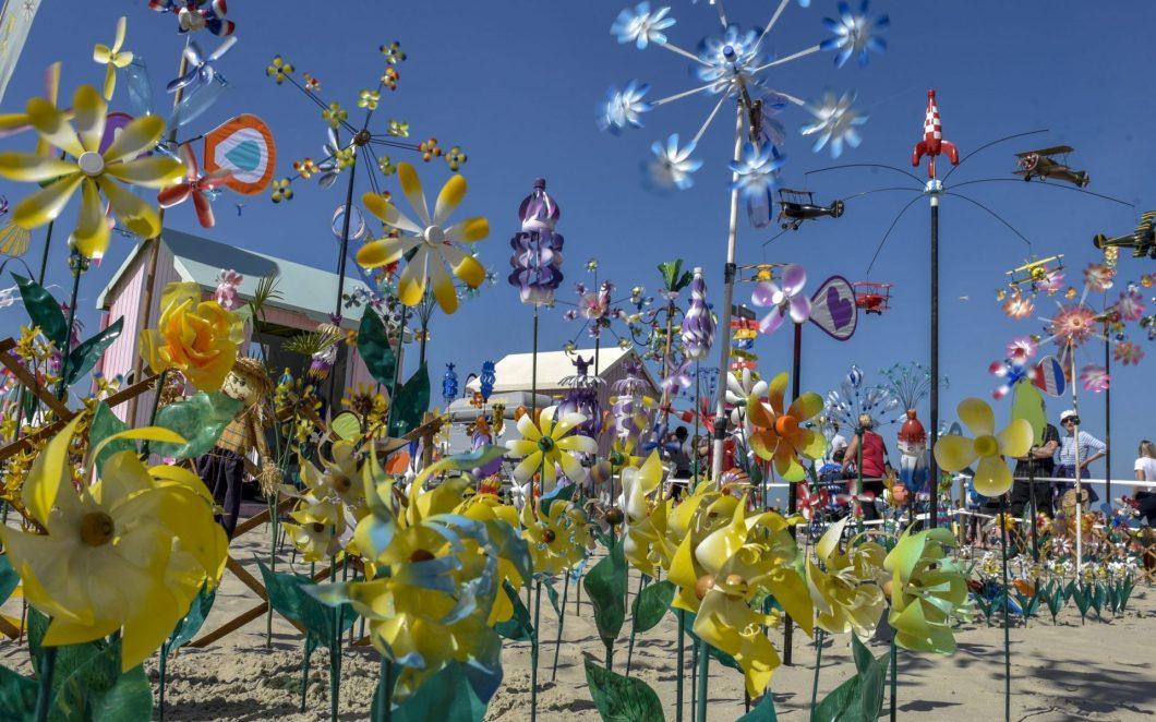 Drachenfest in Berck-sur-Mer an der Opalküste Frankreichs