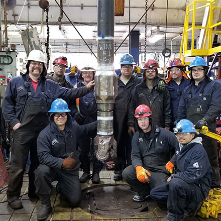 Group of drill workers.