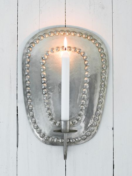Metal Wall Sconce   Silver Wall Sconce   Wall Candle ... on Silver Wall Sconces For Candles id=43431