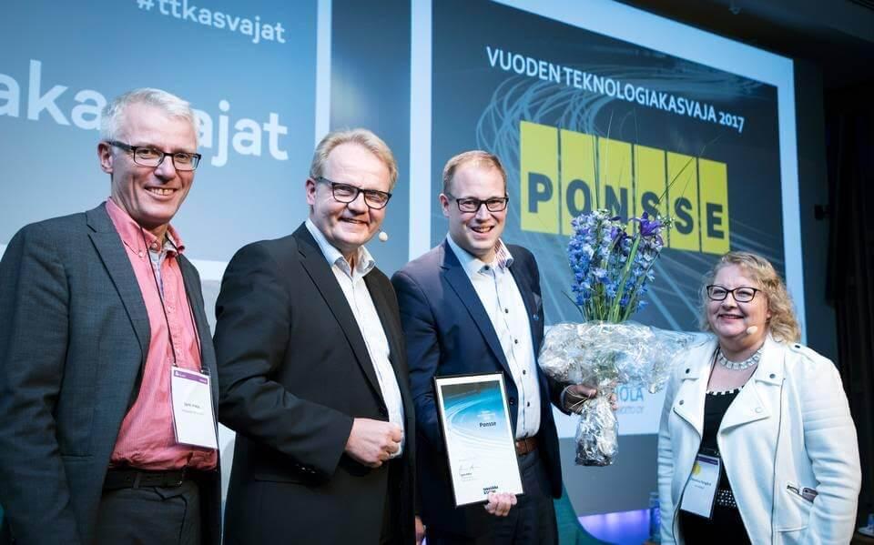 Ponsse valittiin vuoden teknologiakasvajaksi