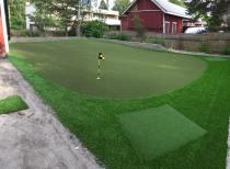 Golf lyöntimatot integroitu viheriöön