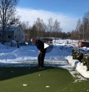 Golfia kotipihalla