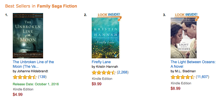Amazon Best Sellers in Family Saga Fiction