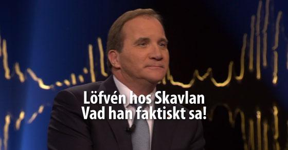 Stefan Löfvén hos Skavlan