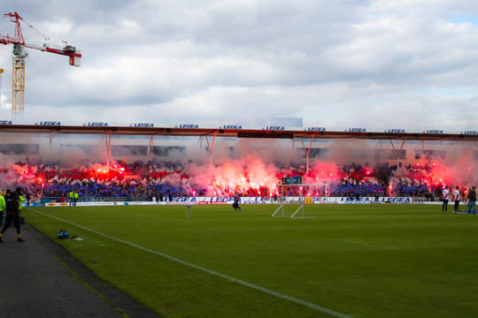 Supporters de Valerenga lors du derby