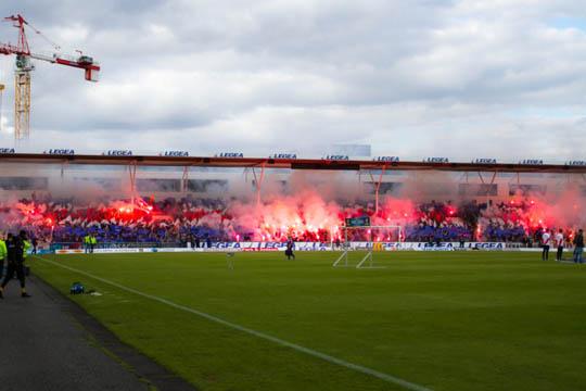 Supporters de Valerenga lors du derby