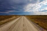 Endloser Flatruetvägen bis zum Horizont