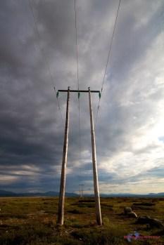 Endlose Stromleitung