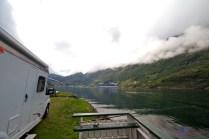 Camping direkt am Geirangerfjord