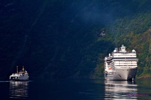 Die Aussicht auf den Fjord ist toll