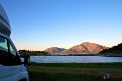 Abendstimmung am Torglatten-Camping.