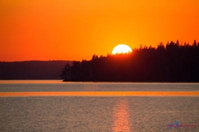 Langsam geht die Sonne unter...