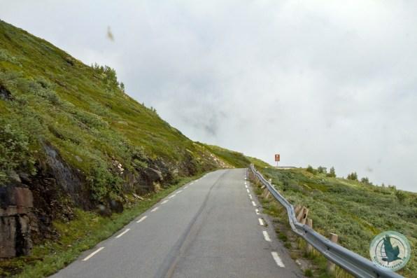 Manche Straßen sind für Caravans einfach ungeeignet (hier: Aurlandsfjellstraße)