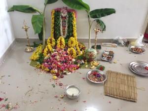 Altar bei der Pooja
