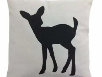 Cuscini arredo 42x42 GARDENLAND ANIMALS Cerbiatto pietra-0