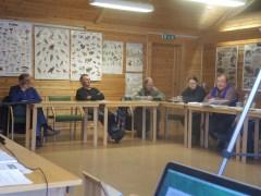 Så har vi i grønt Hjalmar Hansen,etterfulgt av Hans O. Hansen og i blått Arnulf Olsen.