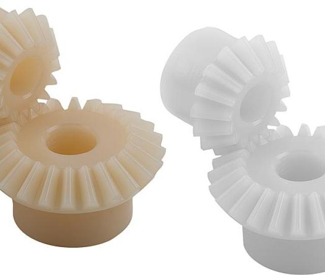 Machined Bores From Module 1 5 Polyacetal White Polyketone Ivory Tone Notepolyacetal Standard Material With High Hardness Grade