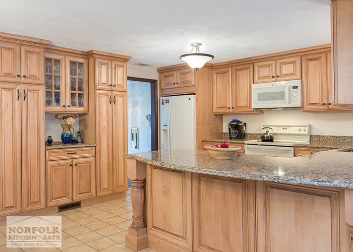 Tewksbury kitchen remodel with Maple cabinets - walnut glaze on Best Countertops For Maple Cabinets  id=28335