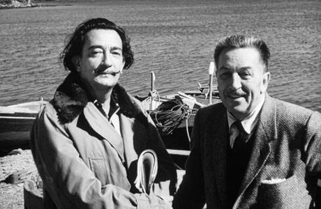 Picture of Salvador Dali and Walt Disney