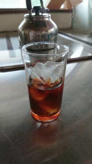 水出しコーヒーの作り方2-氷を入れて飲んでみました。