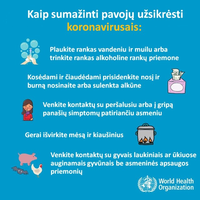 koronavirusas simptomai, pozymiai, prevencija