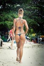 tattoo girl beach
