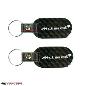 Mclaren Swoop & Text Carbon Fiber Keyring