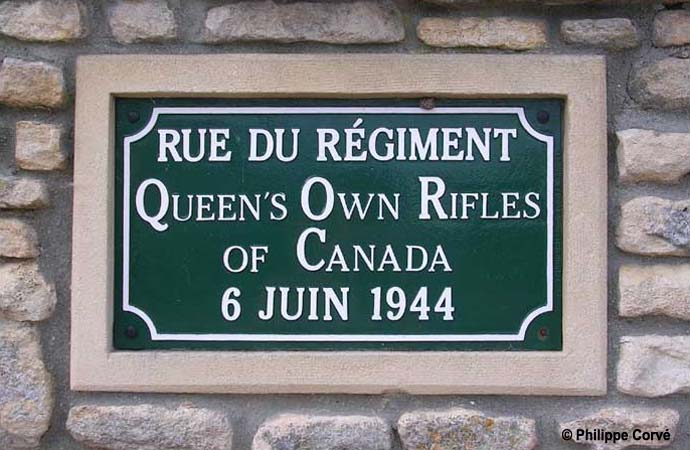 Image result for queen's own rifles plaque at Anguerny