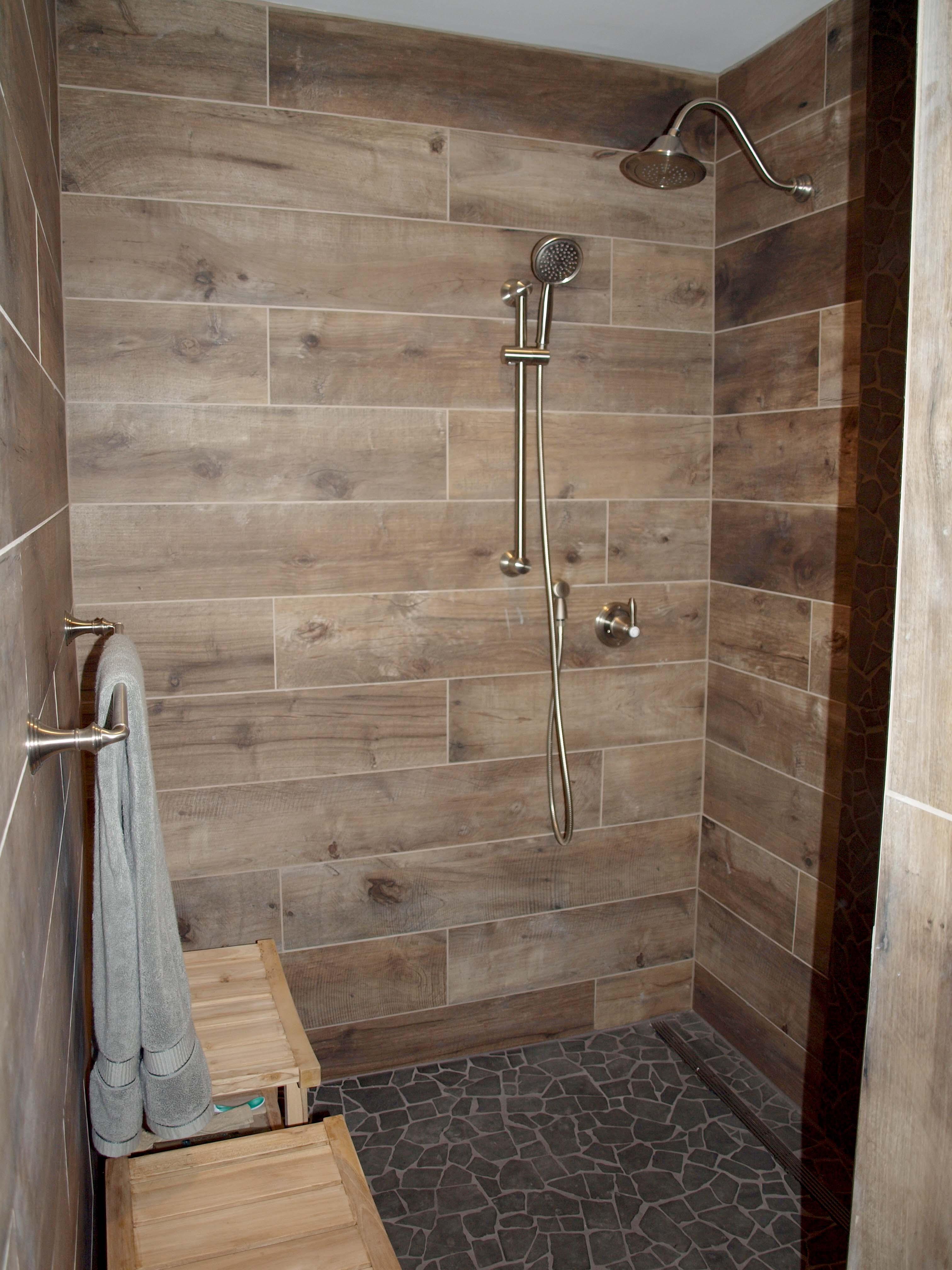 title | Wood Look Tile Bathroom