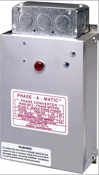 Phase-A-Matic PAM-600 Static Phase Converter, 3 - 5 HP