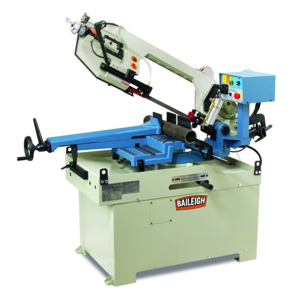 "Baileigh 10 1/2"" Dual Miter Band Saw, BS-350M"