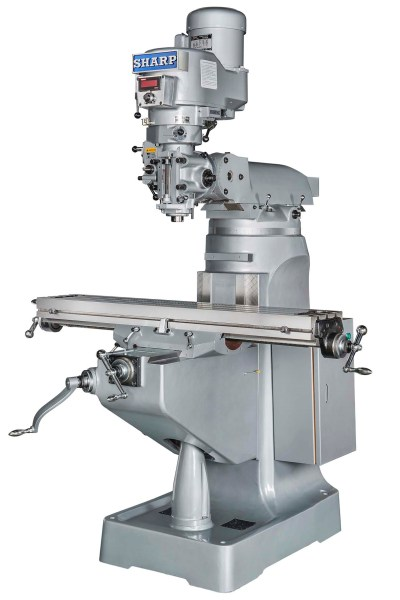 "Sharp 9"" x 49"" Vertical Milling Machine with Standard DVS Head, LMV-49-DVS"
