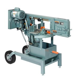 "Ellis 8"" Horizontal Double Miter Swivel Head Band Saw, 1200"