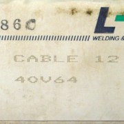 ESAB LINDE TIG WELDING TORCH 12 1/2' POWER CABLE