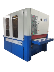 "Apex 37"" Three Head Wide Belt / Disc / Disc Deburring & Finishing Machine, 2037W-D2S"