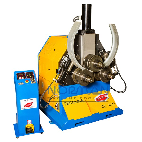 """Ercolina 4"""" x 1/2"""" Hydraulic Programmable Angle Roll-Section Bender with 3-Axis Twist Correction, CE100H3-RLI"""