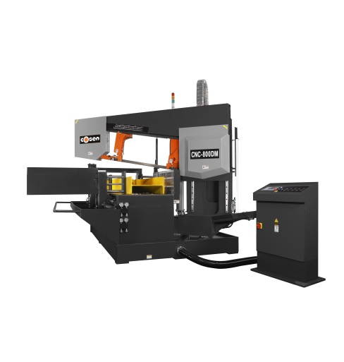 "Cosen 20"" CNC Programmable Dual-Mitering Automatic Horizontal Column Band Saw, CNC-800DM"