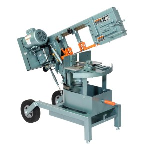 "Ellis 8"" Horizontal Double Miter Swivel Head Band Saw, 1100"