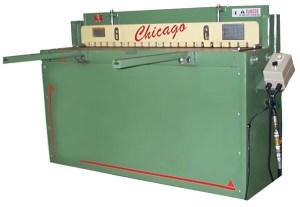 """Chicago Dreis & Krump 52"""" x 16 Gauge Pneumatic Shear, PFS-5216"""