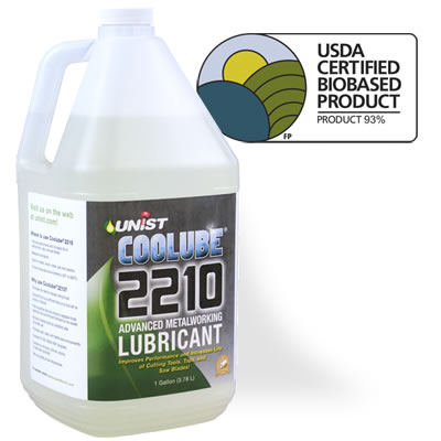 """Unist """"Coolube"""" Advanced Metal Cutting Lubricant, 2210"""