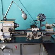 "Rockwell 11"" x 25"" Variable Speed Geared Head Lathe, 25-100"