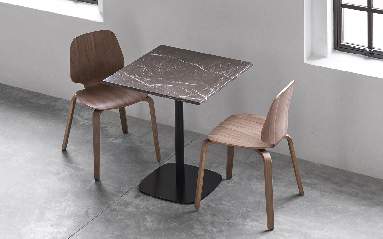 form cafe table wood o70xh104 5 cm black