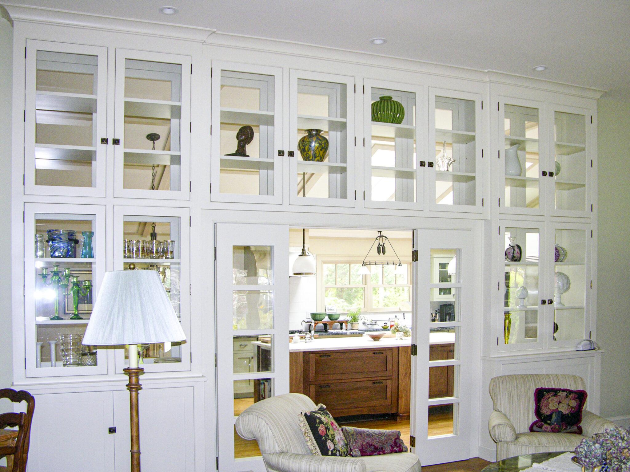 custom built cabinet wall