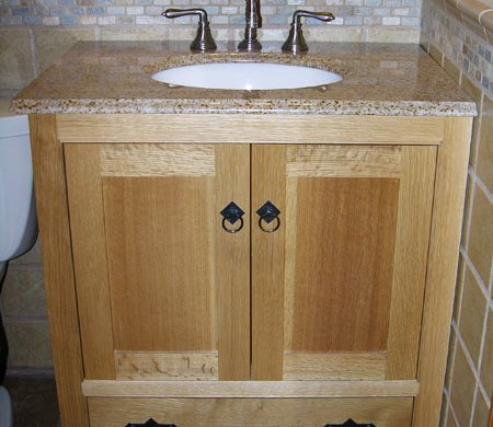 Small custom bath vanity
