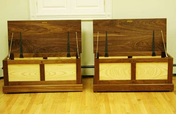 Matching custom wood chests