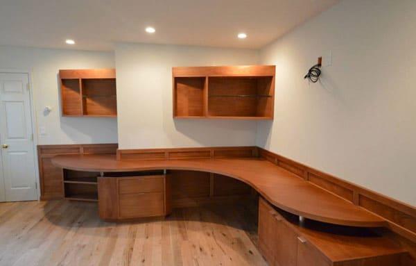 Custom oversized home office desk