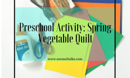 Preschool Activity: Spring Vegetable Quilt