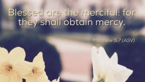 Matthew 5:7 image verse